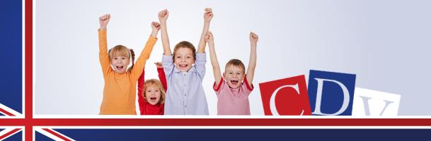bambini felici per il corso di inglese in movimento. Centro Danza Vaganova Noale